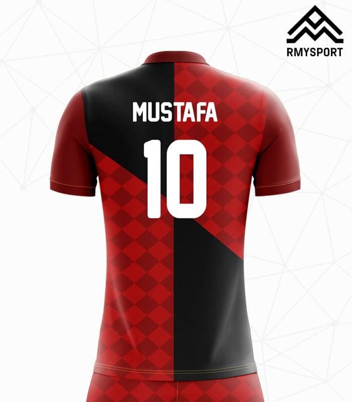 RM110 Damalı Futbol Forması Arka