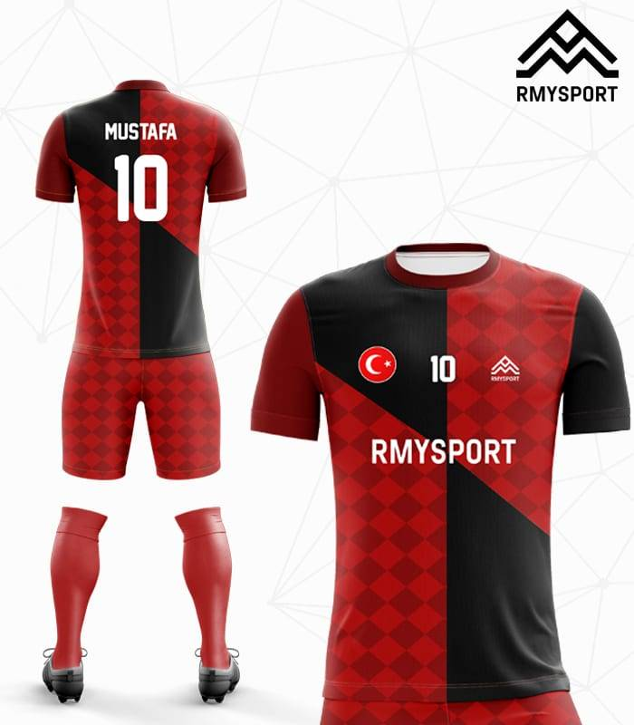 RM110 Damalı Futbol Forması
