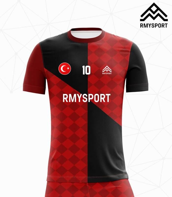 RM110 Damalı Futbol Forması Ön