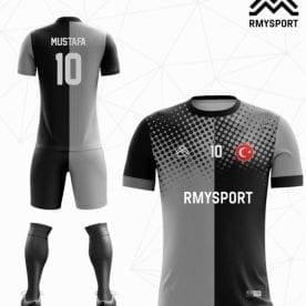rm107 Gri Siyah Noktalı Futbol Forması