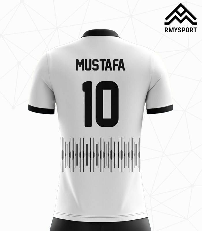 Siyah beyaz Futbol Forması