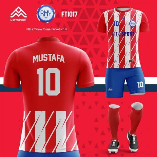 Kırmızı beyaz futbol forması, atletico madrid forması